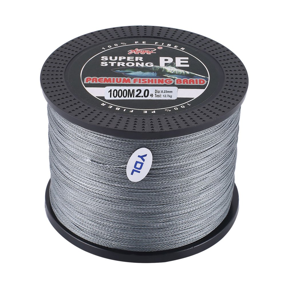 Strong 4 Strand 1000M Premium PE Braided Fishing Line Lake Multifilament Wire Woven Thread