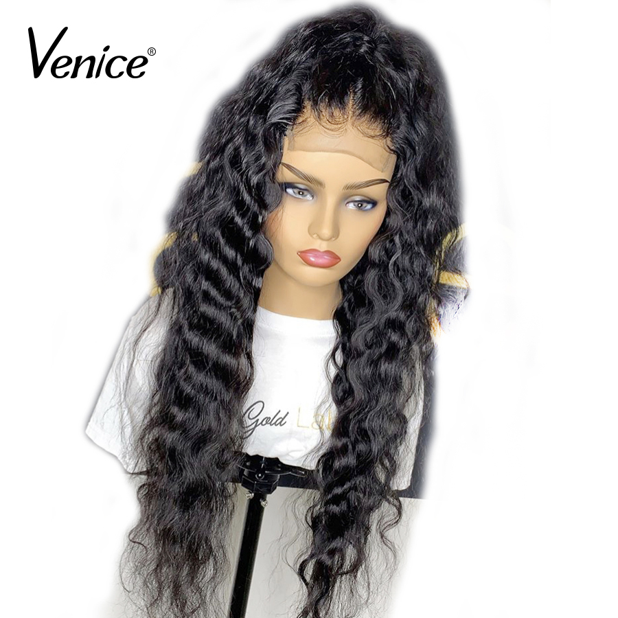 Venice 13X6 Glueless Lace Front Human Hair Wigs With Baby Hair 150% Density Brazilian Remy Hair Wigs For Black Women