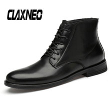 Buy CLAXNEO Man Dress Boots Genuine Leather Autumn Male Formal Shoe luxury brand social shoes Men Retro Wedding Shoe directly from merchant!