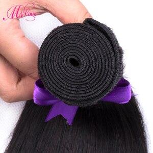 Image 3 - Straight Menselijk Haar Bundels 100 G/stk Braziliaanse Hair Weave Bundels 100% Human Hair Extension 24 26 28 30 Niet Remy ms Liefde