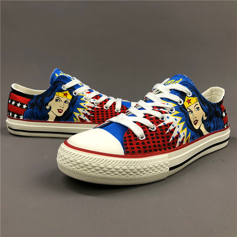 Wen Hand Painted Shoes Wonder Woman
