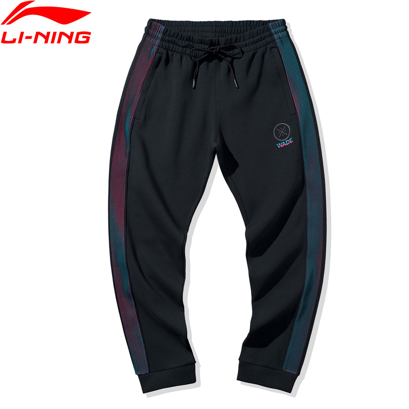 Li-Ning Men Wade Series Sweat Pants Regular Fit 53% Polyester 39% Cotton 8% Spandex LiNing Comfort Sport Trousers AKLQ203 MKY549