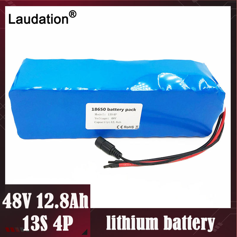 Laudation 48V 12AH Electric car battery 18650 rechargeable pack With 2A charger built-in 25A BMS For electric bicycles