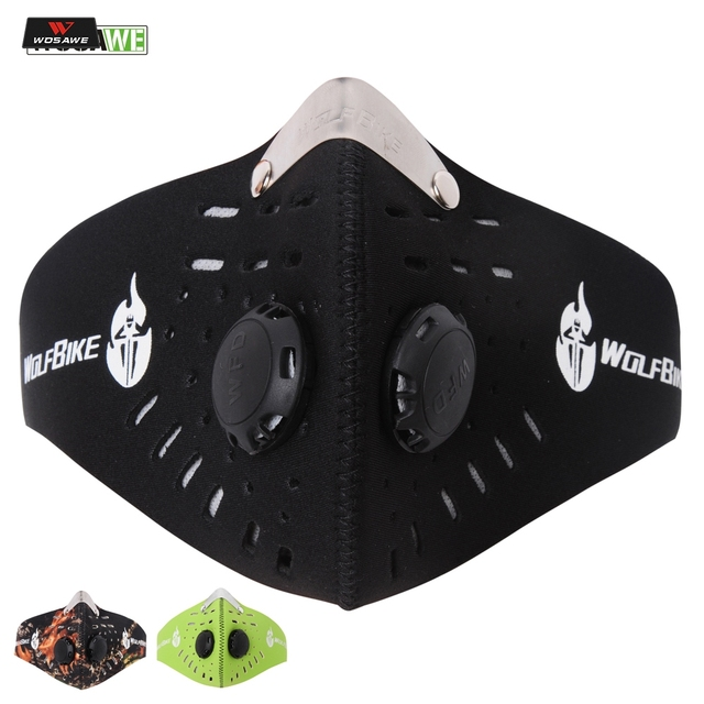 WOSAWE Anti-pollution Motorcycle Face Mask Mouth-muffle with Filter Half Face Dust Mask Face Shield Winter Warm Biker Mask