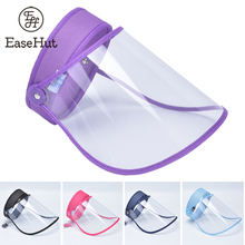 EaseHut Anti Droplet Full Face Shield Mouth Mask Cover Cap Anti Splash Korean Facial Safety Protective Transparent Sun Hat Visor