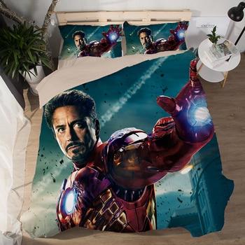 Good quality 3D Robot Bedding Set The Avengers Print Duvet Cover Set Bedcloth with Pillowcase Bed Set Home Textiles