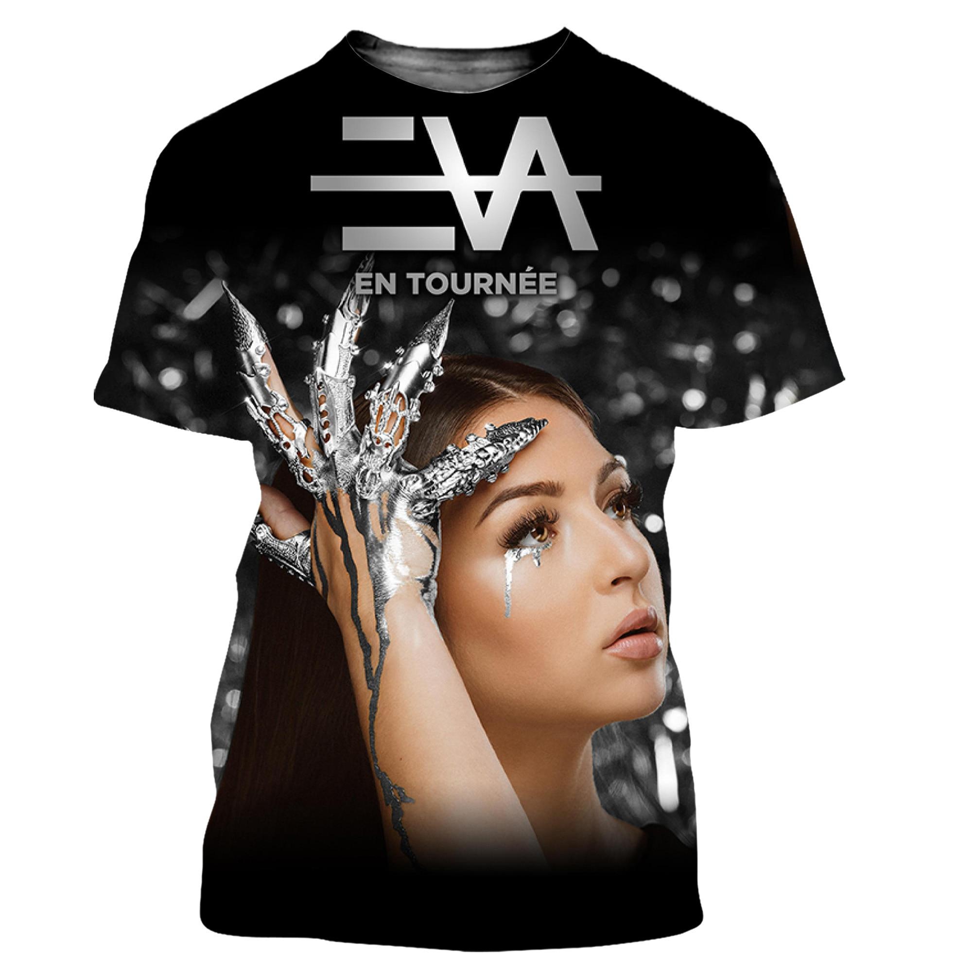 Eva Queen Men/women New Fashion Cool 3D Printed T-shirts Casual Harajuku Style Tshirt Streetwear Tops