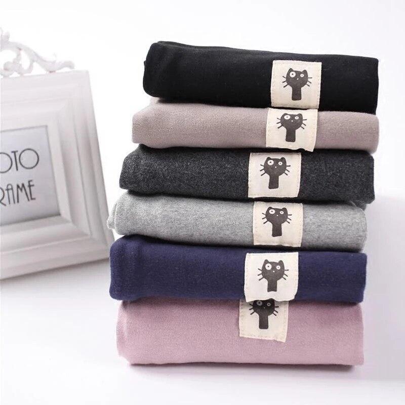 Леггинсы для женщин хлопок 2020 Мода; Сезон осень-зима с высокой талией серый плюс Размеры M-6XL пуш-ап плотные и теплые штаны для девочек детски...