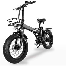 GW20 20 inch Electric Snow Bicycle,48v*15ah Lithium Folding Electric Bicycle Mountain Bike Smart Lcd Display Ce Certification
