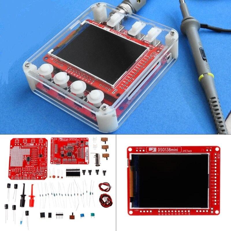 Kit de osciloscópio digital dso138mini, kit de aprendizado diy de bolso tamanho dso138 atualização