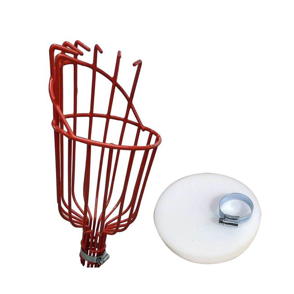 High-altitude Aluminum Deep Basket Fruit Picker Convenient Horticultural Fruit Picker Gardening Peach Picking Tools