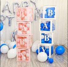 Caixa de bebê caixa de casamento decorações de festa de casamento menina balão de boas-vindas casa balões decoração do evento decoração de aniversário