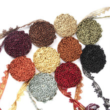 1m/Lot Lace Trim Ribbon Accessories DIY Embroidery Sewing Fabric Decoration Curtain Applique Jacquard Fringe Clothing Handicraft
