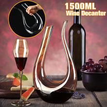 Grand décanteur de 1500ML | Luxueux carafe, vin rouge, Brandy, Champagne, carafe, carafe, pichet, aérateur pour Bar familial