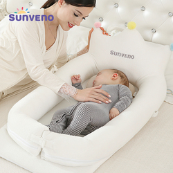 Sunveno Baby Co Schlaf Krippe Bett Tragbare Baby Krippe Faltbare Mobile Auto Bett Reise Nest Babybett Krippe Mutter & Kinder baby Pflege
