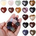 Подарочный пышный камень в форме сердца, исцеляющий кристалл, драгоценный камень, натуральные кристаллы розового кварца