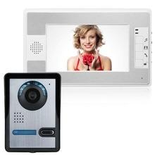 Видеодомофон 7 ''TFT lcd Проводной Видео дверной телефон система внутренний монитор 1000 TVL Открытый IR-CUT камера Поддержка разблокировки