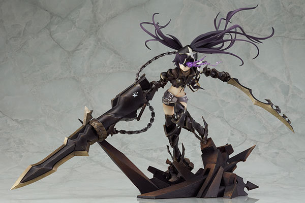 27.5cm Insane Black Rock Shooter Static Action Figure Sexy Girl High Quality Pvc Figurines Collectible Toys 2