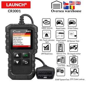 Image 1 - Lansmanı obd2 tarayıcı X431 CR3001 otomotiv profesyonel teşhis aracı obd 2 motor kod okuyucu tarama aracı arabalar için pk ELM327