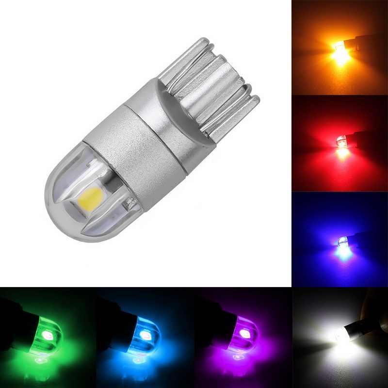 T10 Led COB 194 W5W LED 3030 otomatik araba sinyal ışığı 6500K otomotiv süper parlak dönüş tarafı 12V 200LM ışık lamba ampulü