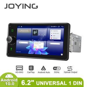 Image 3 - Disfrutando Radio Pantalla 1 din Android 10 reproductor Multimedia de la unidad 4GB 64GB Carplay Android Auto 4G HD Pantalla óptica salida OBD