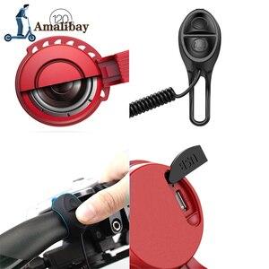 Image 5 - Oplaadbare Scooter Bel 120dB Waterdichte Stuur Hoorn Alarm Voor Xiaom Mijia M365 /M365 Pro Voor Ninebot ES1 ES2 Scooter