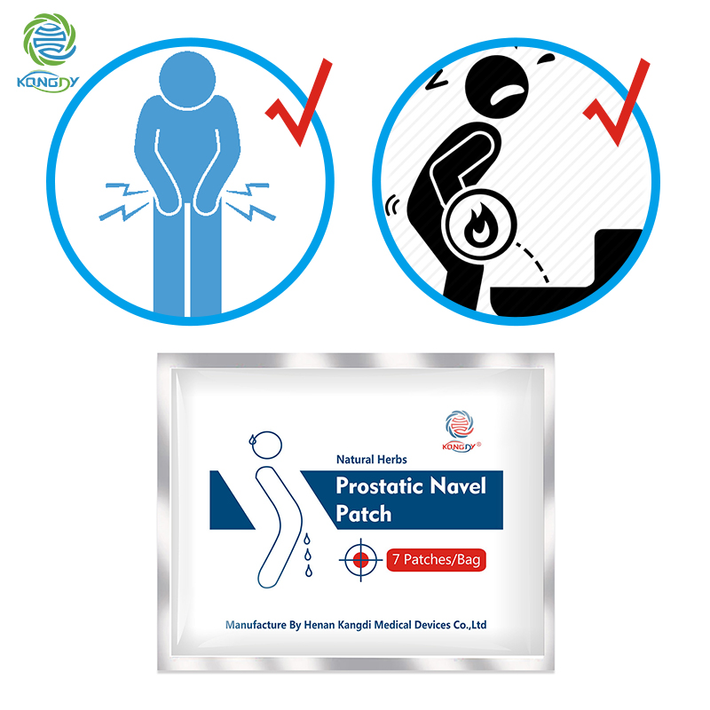 7 Pieces KONGDY Prostatic Navel Plaster Urological Patches 100% Natural Chinese Medicine Herbs Urinary Infection Massage Male