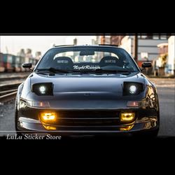 LuLuSticker #023 przednia szyba przednia samochód odblaskowe 3M naklejki i kalkomanie japoński jdm nocny biegacz Moto naklejki w Naklejki samochodowe od Samochody i motocykle na