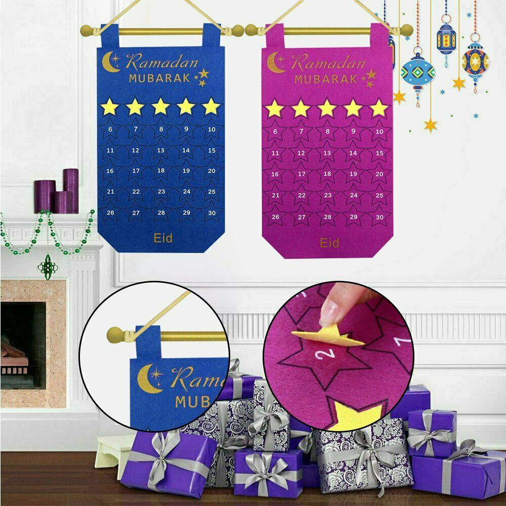 Ramadan Calendar Office Children Unique Felt Eid Countdown Calendar Celebration Amadan Decorations Exquisite Create
