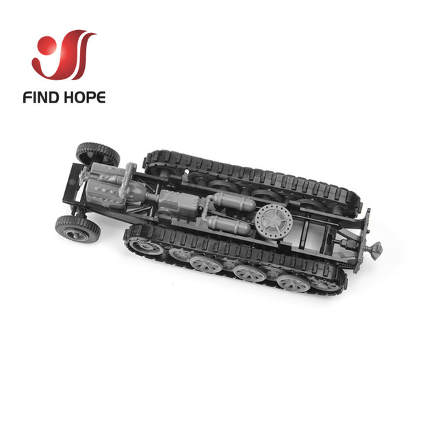 1:72 Sd.Kfz. 7 Half-Track Military Vehicle Plastic Assembly Model Armored Car +10Pcs Soldiers MODEL 3