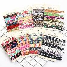 30 шт./60 шт./партия женские модные резинки для волос ярких цветов с принтом в Корейском стиле без коробки