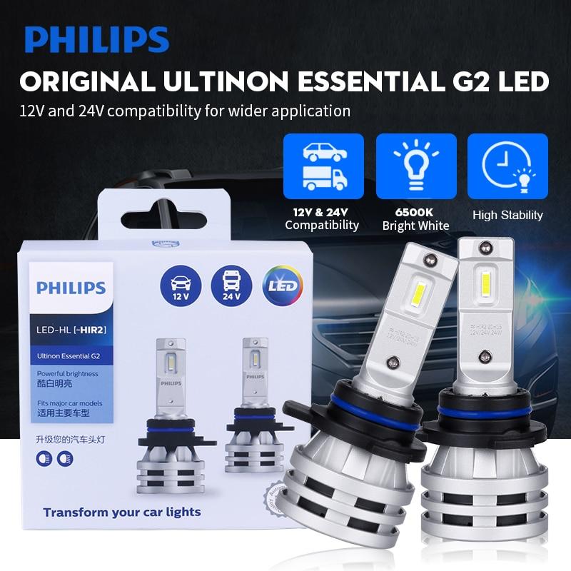 H7 светодиодный Philips Ultinon Эфирное G2 светодиодный лампа h1 philips светодиодный H4 H8 H11 H16 HB3 HB4 HIR2 9003 9005 9006 9012 6500K автомобиля Противотуманные огни