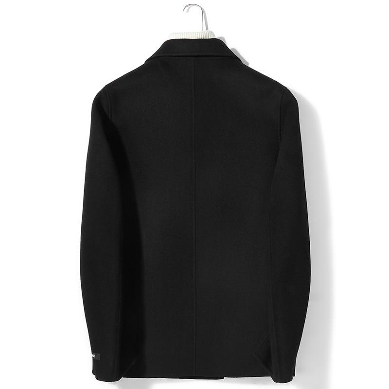 100%Wool Coat Autumn Winter Jacket Men Double-side Woolen Coat Mens Jackets And Coats 4xl Abrigo Hombre P-S8638Z MY1405