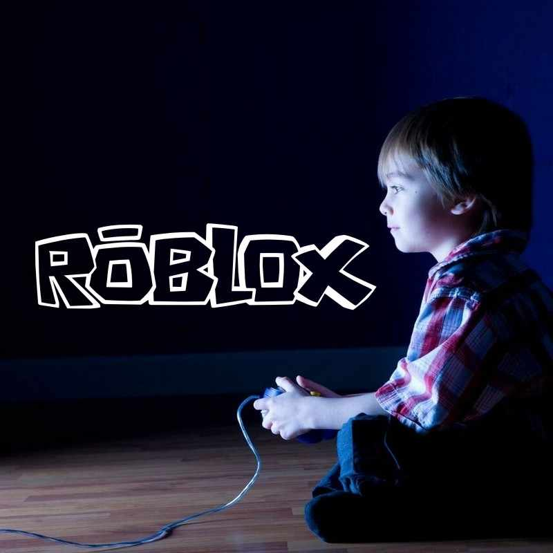Roblox Game Handle Wall Sticker Video Play Game Room Decal Gaming