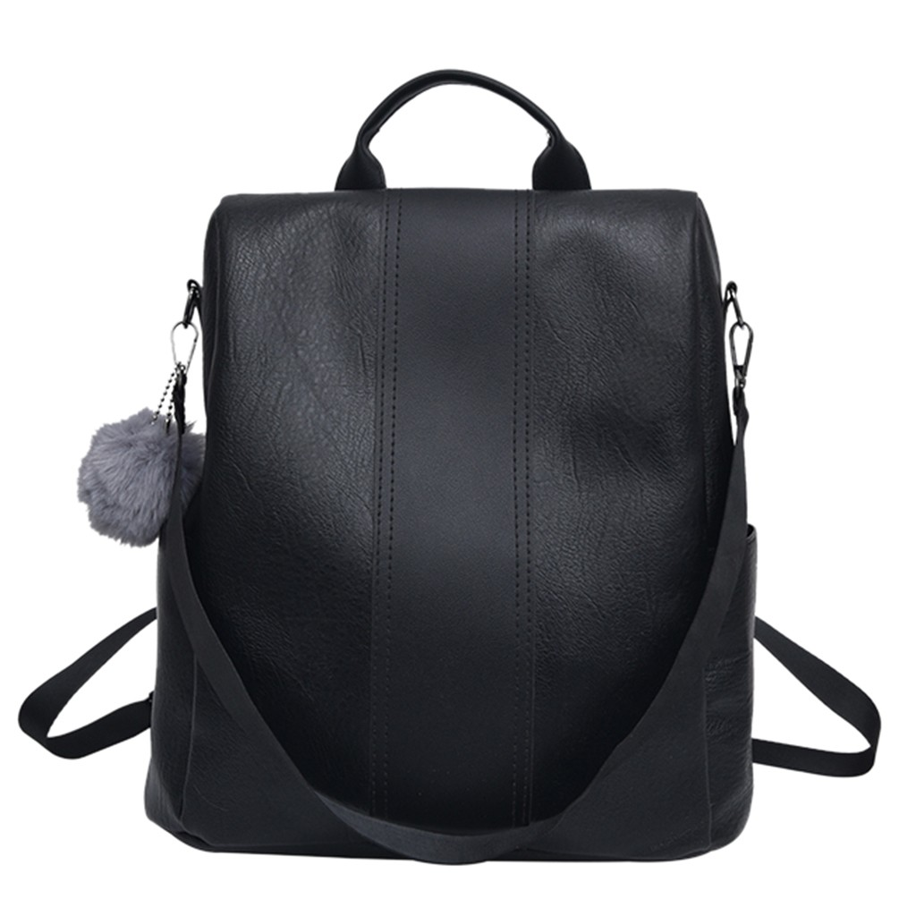 Multi-use Contrast Color Backpack Solid Color Large Daypack Female Bagpack With Simple Zipper Women Travel Shoulder Bags Pack