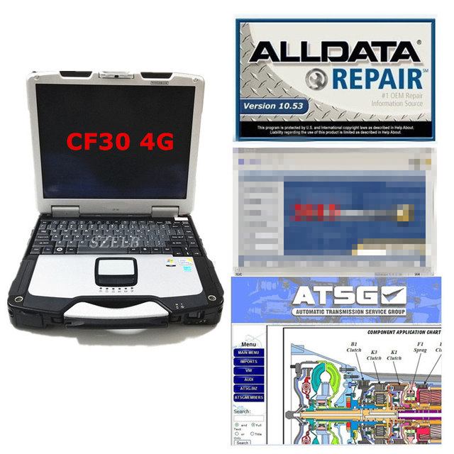 alldata and mi..ll software Atsg 2017 installed well cf30 laptop 4g all data 10.53 m..ll atsg in 1tb hdd ready to use