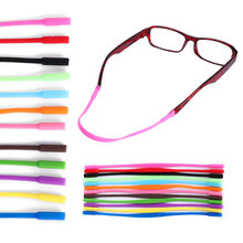 2 pcs Silicone Eyeglasses Straps Sunglasses Chain Sports Anti-Slip String Glasses Ropes Band Cord Holder Eyewear Accessory(China)
