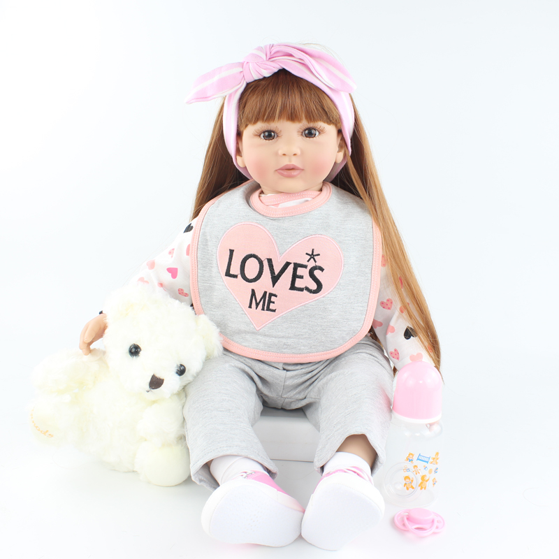 60 CM Silicone Reborn Doll For Girl Princess Toddler Babies Like Real Bonecas Birthday Gift Play House Toy