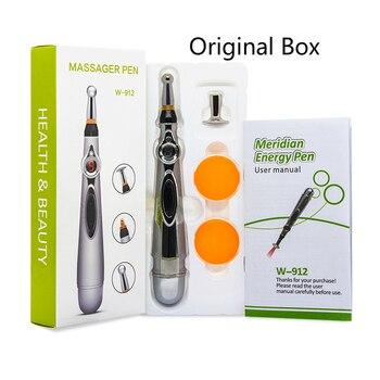 Электронная ручка для иглоукалывания, электрическая меридиановая лазерная терапия, исцеляющая Массажная ручка, энергетическая ручка, обле...