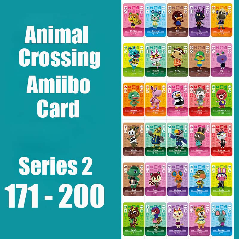 Series 2 #171-200 Animal Crossing Card Amiibo Card Work For Switch 3DS NS Games Series 2 Dropshipping Support Customized Card