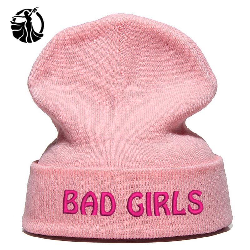 Beanie Hat Skullie Cap Slouchy Winter Embroidery Cool Punk Men Women Teen Street Dance Funny Personalized Csutomized Bad Girls