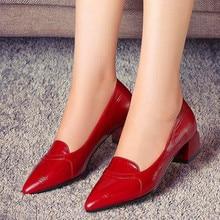 Marlisasa sapatos azuis moda feminina bombas de salto quadrado couro do plutônio vermelho para o clube noturno festa feminino bonito preto sapatos escritório h6000