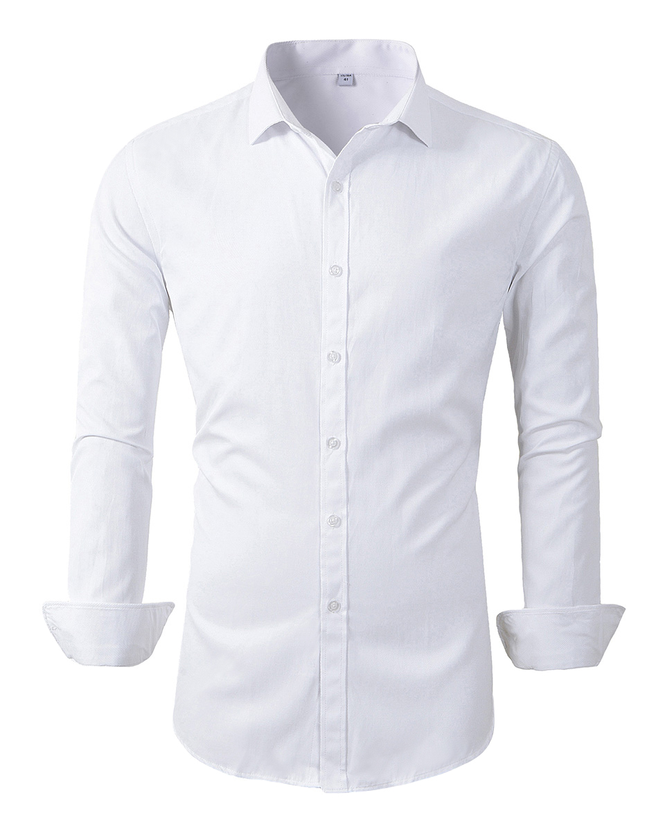 Beninos Mens Long Sleeve Slim Fit Kleid Shirts