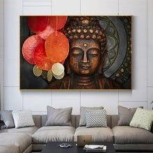 Абстрактная статуя Будды скандинавский холст постеры и печать