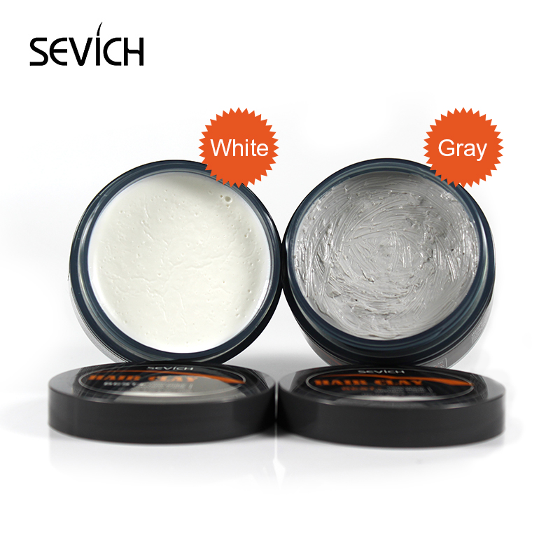Sevich 2 Color Men Hair Clay Mud For Hair Strong Holding Finished Hair Styling  Low Shine Long-lasting Hair Styling Wax 100g