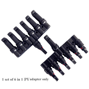 Solar Panel Adapter 2 in 1/3 in1/4 in1/5 in1/6 in1 Connector Cable Splitter Male and female adapter for in parallel connecting