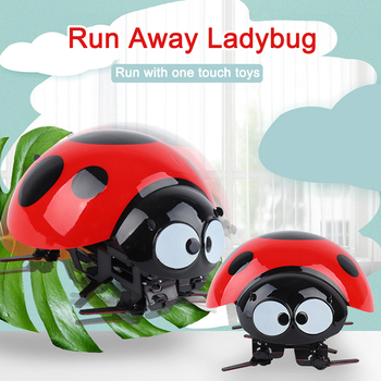 Remote Control Seven-star Ladybug Puzzle Creative Toys Children Simulation Infrared Electric Strange RC Toy
