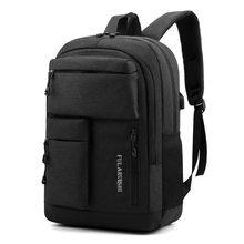 2021 mochila de viagem ocasional dos homens multi-bolso masculino portátil mochila bolsa de ombro cor sólida adolescente saco de escola masculino estudante mochila