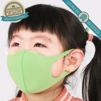 3PCS/Set Washable Anti-Dust Masks Black Cycling Mouth Face Respirator Mask For Children Deodorate Kids Boys Girls Outdoor Travel