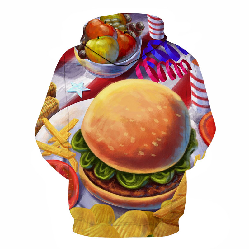 3D Printed Burger Food Drinks Hoodies 24
